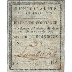Saône-et-Loire - Charolles - Kolsky 71-20 - 3 sous - Etat : TB+