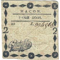 Saône-et-Loire - Macon - Kolsky 71-38 - 2 sous - Etat : TB+