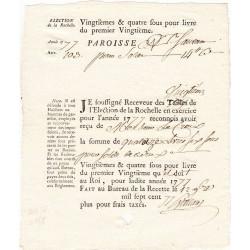 Charente-Maritime - La Rochelle - Louis XVI - Vingtièmes et quatre sous de 1777 - Etat : SUP