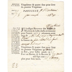 Charente-Maritime - La Rochelle - Louis XVI - Vingtièmes et quatre sous de 1778