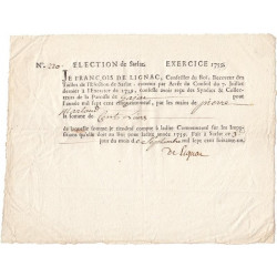Dordogne - Gajac -  Election de Sarlat - Louis XV - Tailles 1759 - 100 livres