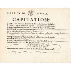 Isère - Allevard - Louis XIV - Capitation de 1711 - Etat : SUP à SPL