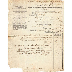 Loiret - Meung - 1er Empire - Contributions directes 1813 - Etat : TB+