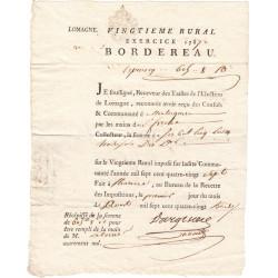 Lot-et-Garonne - Montesquieu - Louis XVI - Tailles : vingtième rural 1787 - 605 livres 8 sols 10 deniers - Etat : SUP