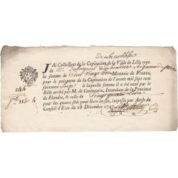 Nord - Lille - Louis XV - Capitation de la noblesse de 1747 - Etat : SUP