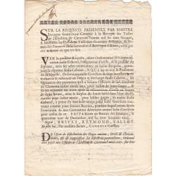 Puy-de-Dôme - Clermont - Révolution - Requête concernant les Tailles - 1671 - Etat : TTB