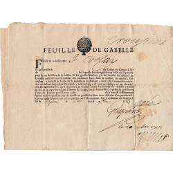 Rhône - Lyon - Louis XIV - 1713 - Feuille de gabelle - Etat : TTB