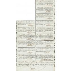Seine - Paris - Louis XVI - Billet de 1000 livres - Emprunt 1784
