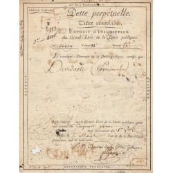 Seine - Paris - Consulat - Dette perpétuelle - 50 francs