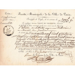 Seine - Paris - 1er empire - Recette municipale - 2997 francs