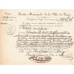 Seine - Paris - 1er empire - Recette municipale - 2862 francs