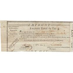 Val d'Oise - Cergy - Révolution - 1795 - Emprunt forcé de l'an IV - 5 francs - Etat : TTB