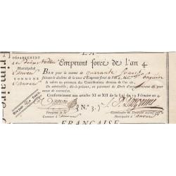 Belgique - Anvers - Révolution - Emprunt forcé de l'an IV - 40 francs