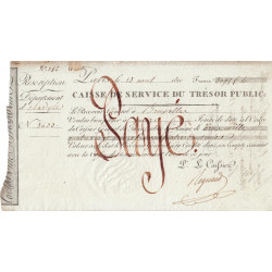 Belgique - Bruxelles - 1er Empire - 1810 - Rescription de 3095 francs - Etat : SUP