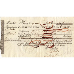 Belgique - Bruxelles - 1er Empire - 1810 - Mandat de 341 francs - Etat : SUP