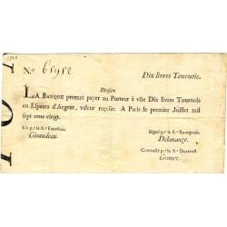 Law-Doreau 22 - 10 livres tournois - 1er juillet 1720 - Etat : TTB