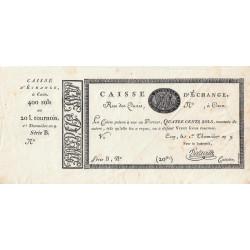 Caen - Caisse d'échange - Pick S 226 - 400 sols - 1801 - Etat : SUP