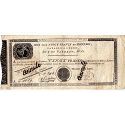 Rouen - Caisse d'échange - Pick S 245b - 20 francs -1803 - Etat : TB à TB+