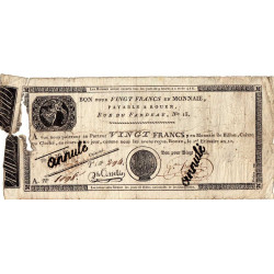 Rouen - Caisse d'échange - Pick S 245b - 20 francs - 1803 - Etat : B-