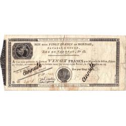 Rouen - Caisse d'échange - Pick S 245b - 20 francs - Etat : B