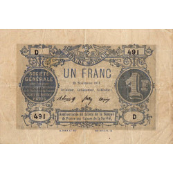 Paris - Société Générale - 1 franc