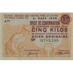 Billet de 5 kg acier ordinaire - 31-03-1946 - Non endossé - Etat : SUP+