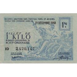 Billet de 1 kg acier ordinaire - 31-12-1948 - Non endossé - Etat : SUP