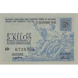 Billet de 5 kg acier ordinaire - 31-12-1948 - Non endossé - Etat : NEUF