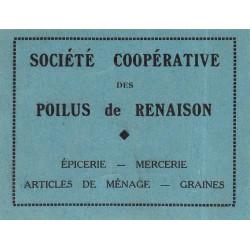 42-nr Renaison - Société Coopérative des Poilus - 2 francs - Etat : SUP