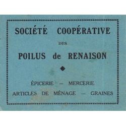 42-nr Renaison - Société Coopérative des Poilus - 2 francs - Etat : TTB+