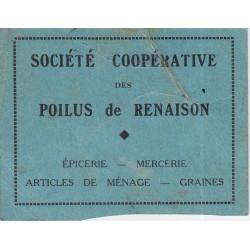 42 - Renaison - Société Coopérative des Poilus - 2 francs - Etat : TB