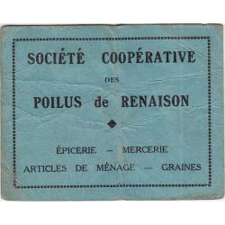 42-nr Renaison - Société Coopérative des Poilus - 2 francs - Etat : TB