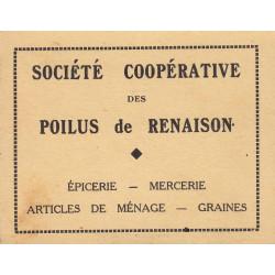 42-nr Renaison - Société Coopérative des Poilus - 5 francs - Etat : TTB+
