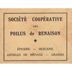 42-nr Renaison - Société Coopérative des Poilus - 5 francs - Etat : TTB