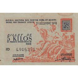 5 kg produits moulés en fonte - 31-12-1948 - Non endossé - Etat : TTB+