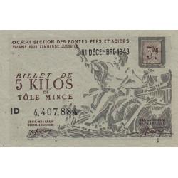 5 kg tôles minces - 31-12-1948 - Endossé - Etat : SUP