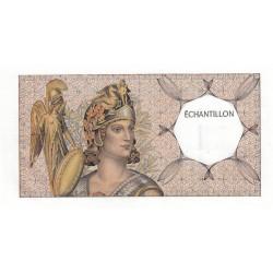 Athena à gauche - Format 100 francs DELACROIX - DIS-03-A-02 - Etat : SUP