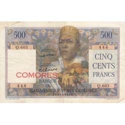 Comores - Pick 4b - 500 francs - 1963 - Etat : TTB