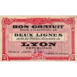 69 - Lyon - Journal Lyon Républicain - 8 francs - 15/03/1929 - Etat : TTB+