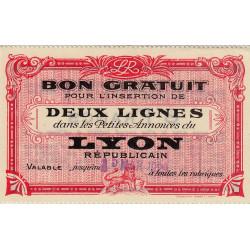 69 - Lyon - Journal Lyon Républicain - 8 francs - 15/03/1929 - Etat : NEUF