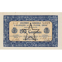 Alençon / Flers (Orne) - Pirot 6-29 - 50 centimes - 1915 - Etat : SUP