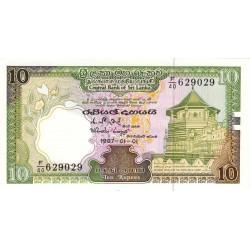 Sri-Lanka - Pick 96a - 10 rupees - 1987 - Etat : NEUF
