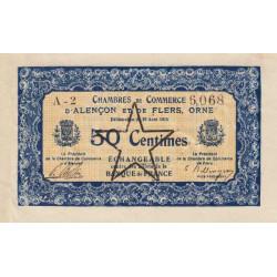 Alençon / Flers (Orne) - Pirot 6-31 - 50 centimes - 1915 - Etat : TTB+