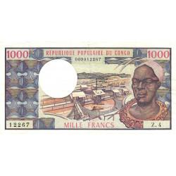 Congo (Brazzaville) - Pick 3c - 1'000 francs - Etat : TTB+