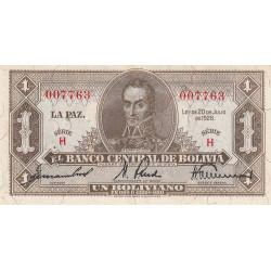 Bolivie - Pick 128a_1 - 1 boliviano - Loi 1928 - Etat : SUP