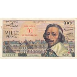 F 53-01 - 07-03/1957 - 10 nouveaux francs sur 1000 francs - Richelieu - Etat : TTB-