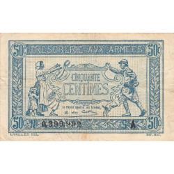 VF 1-1 - 50 centimes - Trésorerie aux armées - 1917 - Etat : TTB-