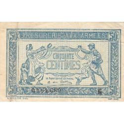 VF 1-7 - 50 centimes - Trésorerie aux armées - 1917 - Etat : TB+