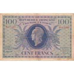 Trésor - Fayette VF 6-1d - 100 francs - Trésor central - 1943