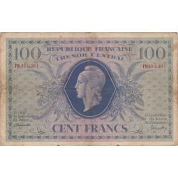 VF 6-1e - 100 francs - Trésor central - 1943 - Etat : TB-